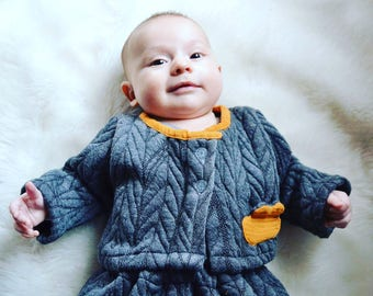 Quilted vest / Baby Cardigan
