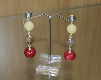 925 sterling silver Earrings and Agate
