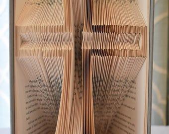 Cross folded book art
