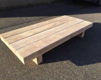 Solid Oak Sleeper Coffee Table