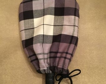 Plaid pickleball paddle cover