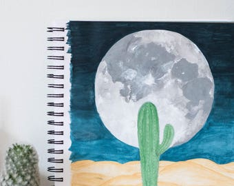 Cactus by Night Print