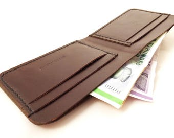 Frank Henry Bi-fold wallet brown