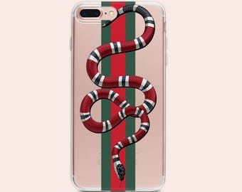Gucci iPhone 8 case iPhone 7 Plus Case Gucci iPhone X Case iPhone 6 Case Gucci Snake Phone Case Gucci iPhone X case clear iphone case Gucci
