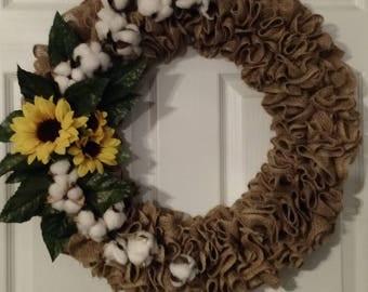 Cotton Pickin' Wreath