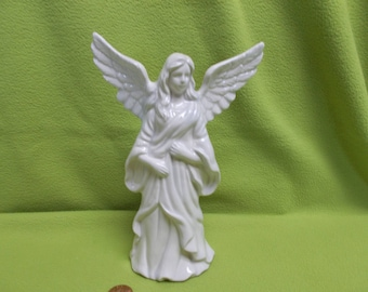 Blue White Angel with spread wings