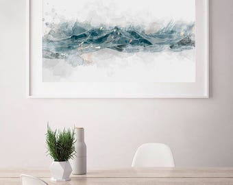 Abstract Water Print in Watercolor - Print for Home Wall Art