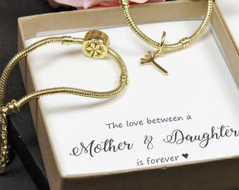 Mother of the Bride gift set Dandelion flower mother daughter matching bracelet 2 3 4 5 Mother of the bride gift mother daughter bracelet