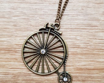 Bronze Penny Farthing Pendant