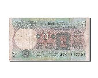 india 5 rupees 1975 km #80k vg(8-10) 27c 817706