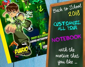 Liners for BEN 10 notebooks, school liners, book liners