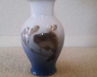 Royal Copenhagen Vase (Denmark) Fish in Seaweed