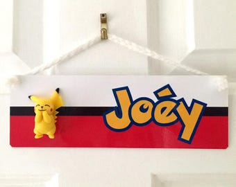 Pokemon Inspired Door Plaque - Personalised