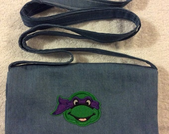 Donatello Ninja Turtle Denim Over the Shoulder Purse
