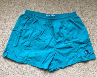 Men's Vintage 90s Champion Blue Swim Trunks Size Large