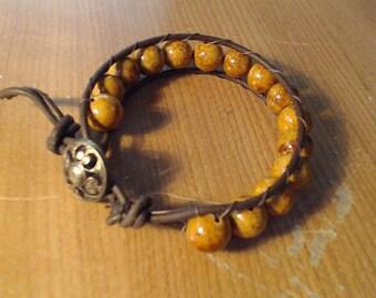 Wrap it  w/ 10mm beads