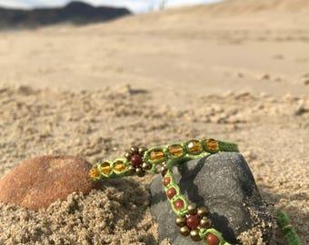 GREEN Bamboo Cord Bracelet