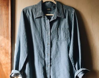 Lee Chambray Button Down
