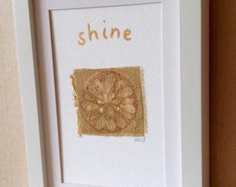 Uplifting, Meditation, Holistic, Positive Word, Framed, Artwork
