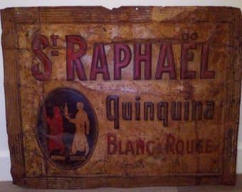 Plate polychrome St. Raphael Quinquina
