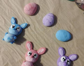 Easter Bunny & Eggs Magnets