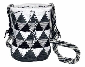 Mini Wayuu Bag-mini Wayúu Grey backpack