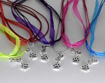 Paw Prints and Heart Beats Necklaces