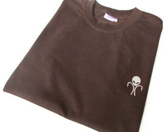Alien Carp Brown T-Shirt - Fishing Clothing