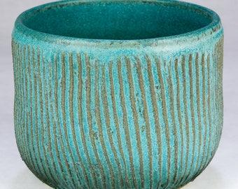 Stoneware Textured Planter