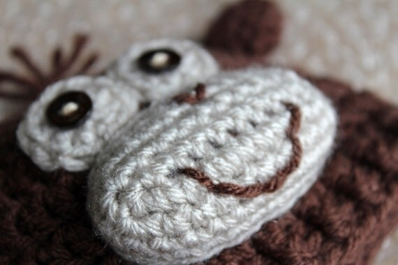 Preemie Newborn Monkey Hat Crochet Monkey Hat Pattern Baby