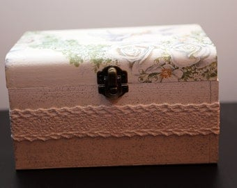 Wedding box with 20hand made evenlopes for wishes,decoupage,handmade,wedding,wedding wishes box