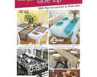 Simplicity pattern uncut 5530 Easy Table Top Accessories and chair pad
