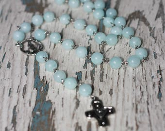 rosary cross necklace beads