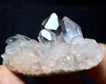 26g Natural Rare clear QUARTZ Crystal Cluster Mineral Specimen