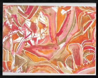 Orange Abstract Art Card