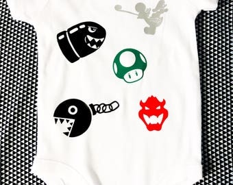 Mario Collage Onesie