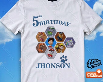 Paw Patrol Iron On Transfer, Paw Patrol Birthday Shirt DIY, Paw Patrol Shirt Design, Paw Patrol Printable, Paw Patrol, Digital Files
