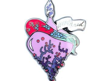 Mermaid elixir pin