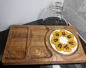 Vintage Goodwood Pansy Cheese Board