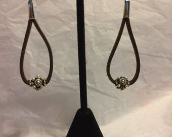 Suede Dangle Earrings