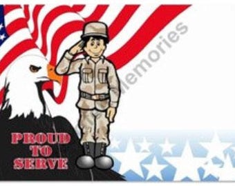 Armed Forces Personalized Cartoon
