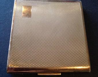 Stratton 1950's gold coloured compact