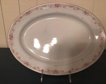 Noritake Morning Blush Oval Serving Platter