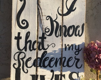 Bible verse rustic sign