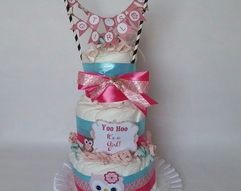 Yohoo Owl Diaper Cake
