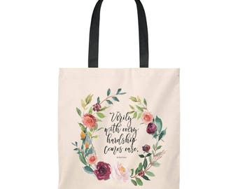 Tote Bag Verses From The Quran Quotes From The Quran Tote Bag Islamic Gift Ideas Gift Ideas For Muslims Spiritual Quotes
