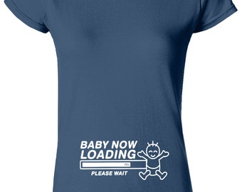 Baby Now Loading  Ladies T Shirt Funny Tee Top Pregnant Perfect Gift Mother
