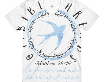 Matthew 28:19 - Sublimation women's crew neck t-shirt