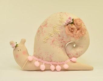 Snail handmade snail toy soft toy for babyroom birthday gift Snail for decoration home decor Tilda snail