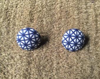 African stud earrings Ankara button earrings fashion jewellery african jewellery ethnic stud earrings wax print button fashion earrings